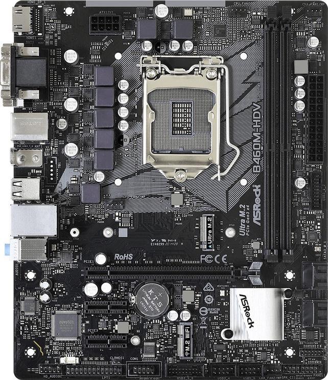 Mātesplate ASRock B460M-HDV