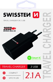 Swissten Premium Fast Charge Travel Charger 10.5W Black