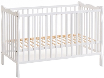 ASM Ala II Baby Cot with Mattress White