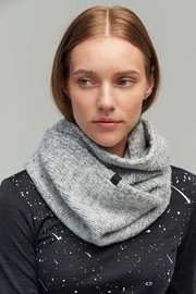 Audimas Soft Knitted Neck Sleeve With Wool Grey
