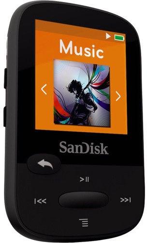 Mūzikas atskaņotājs Sandisk Clip Sport+ Black, 16 GB