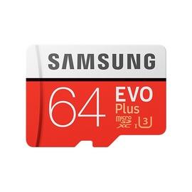 Samsung EVO+ 64GB microSDXC UHS-I Class 10 + SD Adapter