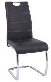 Ēdamistabas krēsls Signal Meble H666 Black, 1 gab.