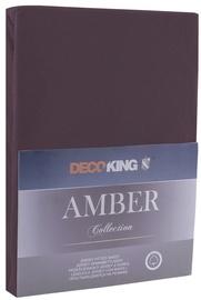 Palags DecoKing Amber Chocolate, 200x200 cm, ar gumiju