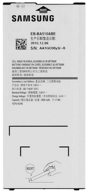 Samsung Original Battery For Samsung Galaxy A5 A510F 2900mAh