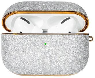 Kingxbar Bling Shiny Glitter Case For Apple AirPods Pro Silver