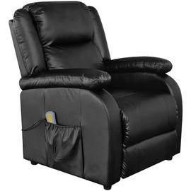 Atzveltnes krēsls VLX Massage 242512, melna, 90 cm x 77 cm x 106.5 cm