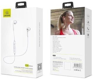 Austiņas Usams LN Bluetooth Sport White, bezvadu