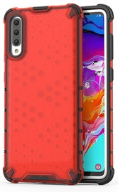 Hurtel Honeycomb Armor Back Case For Samsung Galaxy A70 Red