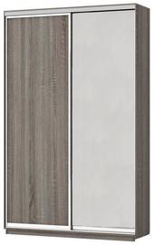 Garant-NV Wardrobe w/3 Sliding Doors & Drawers 180x240x60cm Truffle