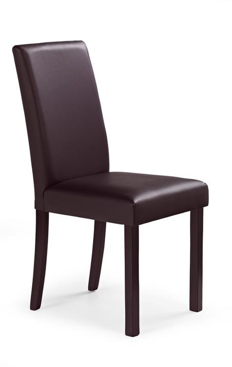 Ēdamistabas krēsls Halmar Nikko Dark Walnut/Dark Brown