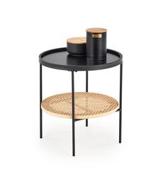 Kafijas galdiņš Halmar Kampa, brūna/melna, 450x450x450 mm