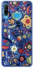 Huawei Flower Back Case For Huawei P30 Lite Blue