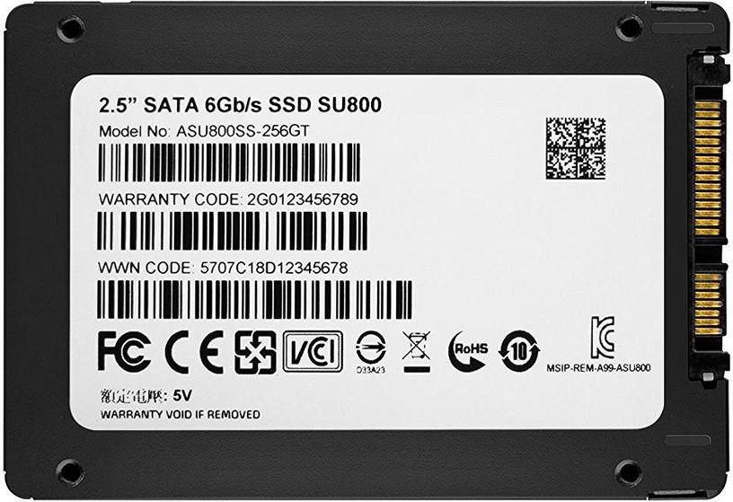 Cietais disks (SSD) ADATA ASU800SS-256GT-C, SSD, 256 GB