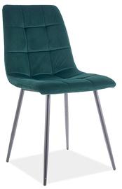 Ēdamistabas krēsls Signal Meble Mila Velvet 75, zaļa