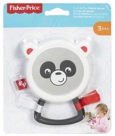 Прорезыватель Fisher Price Peek & Play Panda Mirror, белый/черный