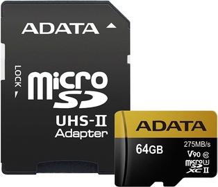 Adata 64GB Premier One microSDXC Class 10 UHS-II U3 + Adapter
