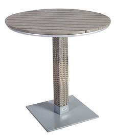 Dārza galds Home4you Larache Grey, 70 x 70 x 74 cm