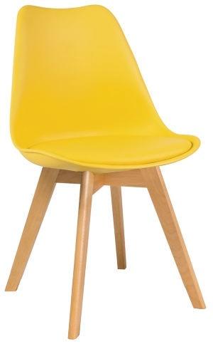 Ēdamistabas krēsls Signal Meble Kris Beech Yellow, 1 gab.