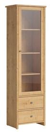Black Red White Porto REG1W2S Glass Door Cabinet Burlington Oak