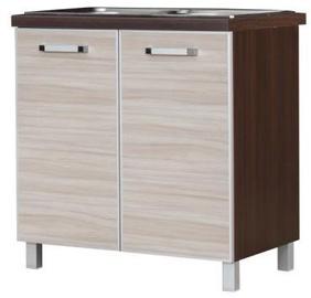 Bodzio Ola Kitchen Bottom Cabinet Under The Sink 80 Gloss Latte