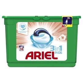 Kapsulas mazgāšanai Ariel Sensitive 3 in 1, 14 gab.