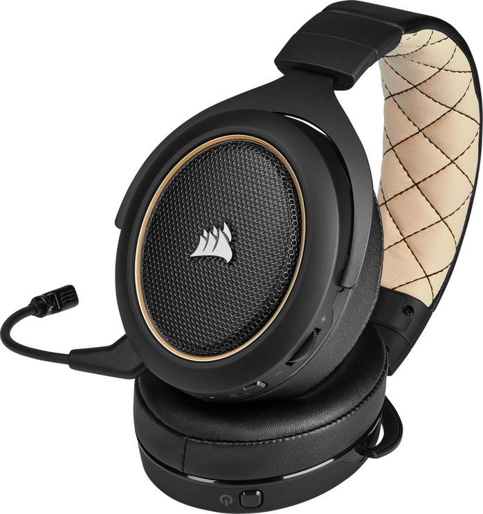 Наушники Corsair HS70 PRO Wireless Cream, беспроводные