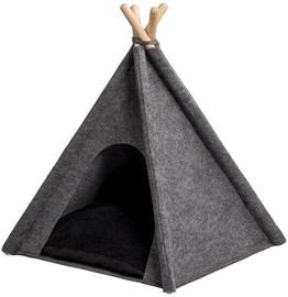 Dzīvnieku gulta Myanimaly Tipi Pet L, melna/pelēka, 1000x1000 mm