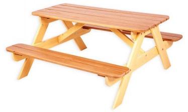 Садовый стол Folkland Timber Yellow/Brown, 100 x 43 x 51 см