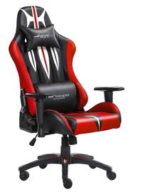 Spēļu krēsls Warrior Chairs Sword Black/Red
