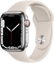 Viedais pulkstenis Apple Watch Series 7 GPS + LTE 41mm Stainless Steel, sudraba