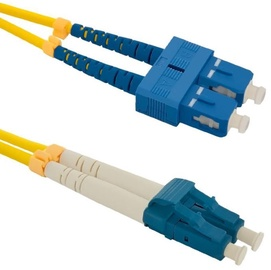 Qoltec SC-LC Optic Patch Cable Yellow 3m
