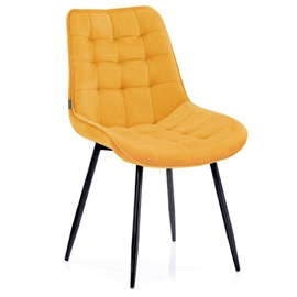 Ēdamistabas krēsls Homede Algate, dzeltena, 4 gab.