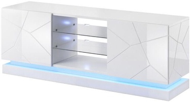 ТВ стол Cama Meble RTV Qiu 160, белый, 1600x450x570 мм