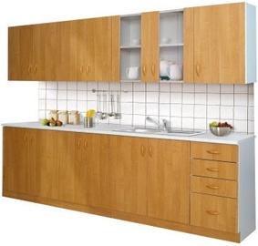 Virtuves komplekts Stolarz-Lempert Sara White/ Brown, 2.6 m