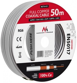 Maclean Coaxial Cable RG6 50m