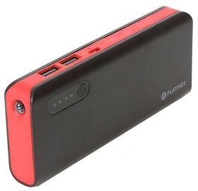 Platinet Power Bank 8000mAh + Torch Black/Red
