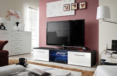 ТВ стол ASM Bono III Black/White Gloss, 1800x450x350 мм