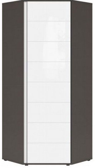 Black Red White Graphic Hallway Wardrobe 78x191x78cm Wolfram Grey/White