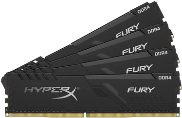 Kingston HyperX Fury Black 64GB 3600MHz CL18 DDR4 KIT OF 4 HX436C18FB4K4/64