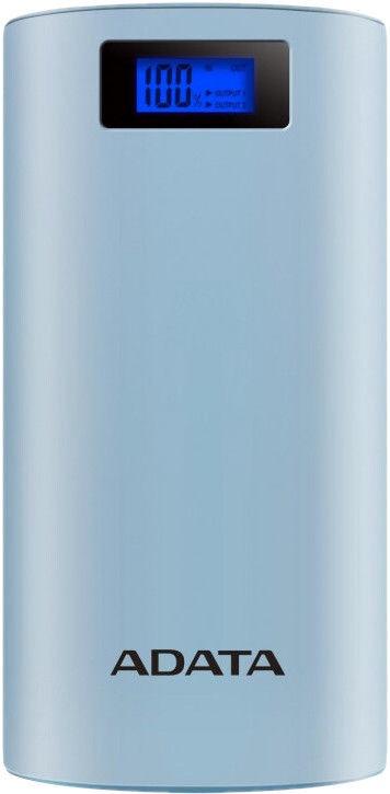 Ārējs akumulators ADATA P20000D Light Blue, 20000 mAh