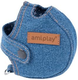 Amiplay Denim Infini Retractable Leash Cover Blue S