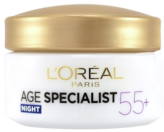 Sejas krēms L´Oreal Paris Age Specialist 55+ Night Cream, 50 ml