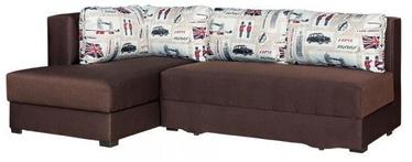 Stūra dīvāns Bodzio Judyta Dark Brown/London 1, kreisais, 225 x 155 x 77 cm