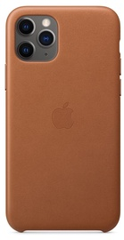 Apple Leather Back Case For Apple iPhone 11 Pro Brown