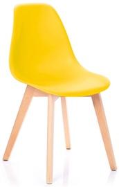 Ēdamistabas krēsls Homede Mirano Yellow, 4 gab.