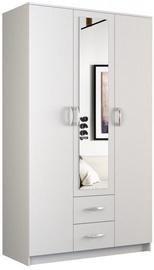 Skapis Top E Shop Romana White, 120x52x205 cm, with mirror
