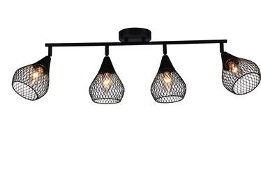 Domoletti Bistro MX51166-4 Spotlight 4x3W E14 Black