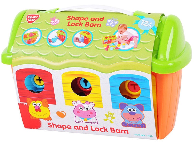 Игрушка PlayGo Shape & Lock Barn 1750/1751