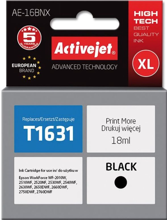 ActiveJet Cartridge AE-16BNX For Epson 18ml Black